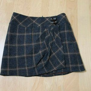 Nanette Lepore women's 100% wool mini skirt plaid